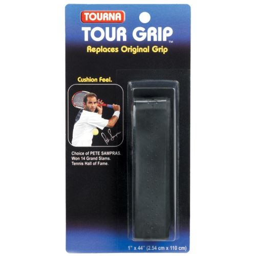 Grip perforat TOURNA SAMPRAS, 1.8mm, negru