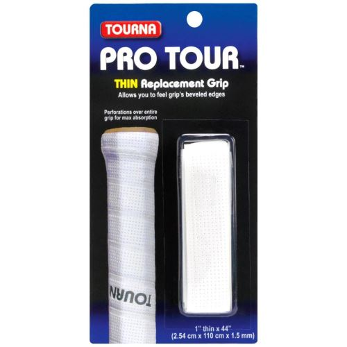 Grip TOURNA PRO TOUR, 1.5mm, alb