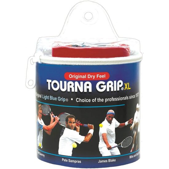 Overgrip TOURNA Blue, XL, 30 bucati, TOUR pack