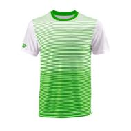 Tricou Wilson Team Crew Striped, barbati, verde/alb, LG